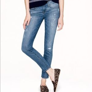 J.Crew Toothpick Distressed Skinny Jeans Size 26
